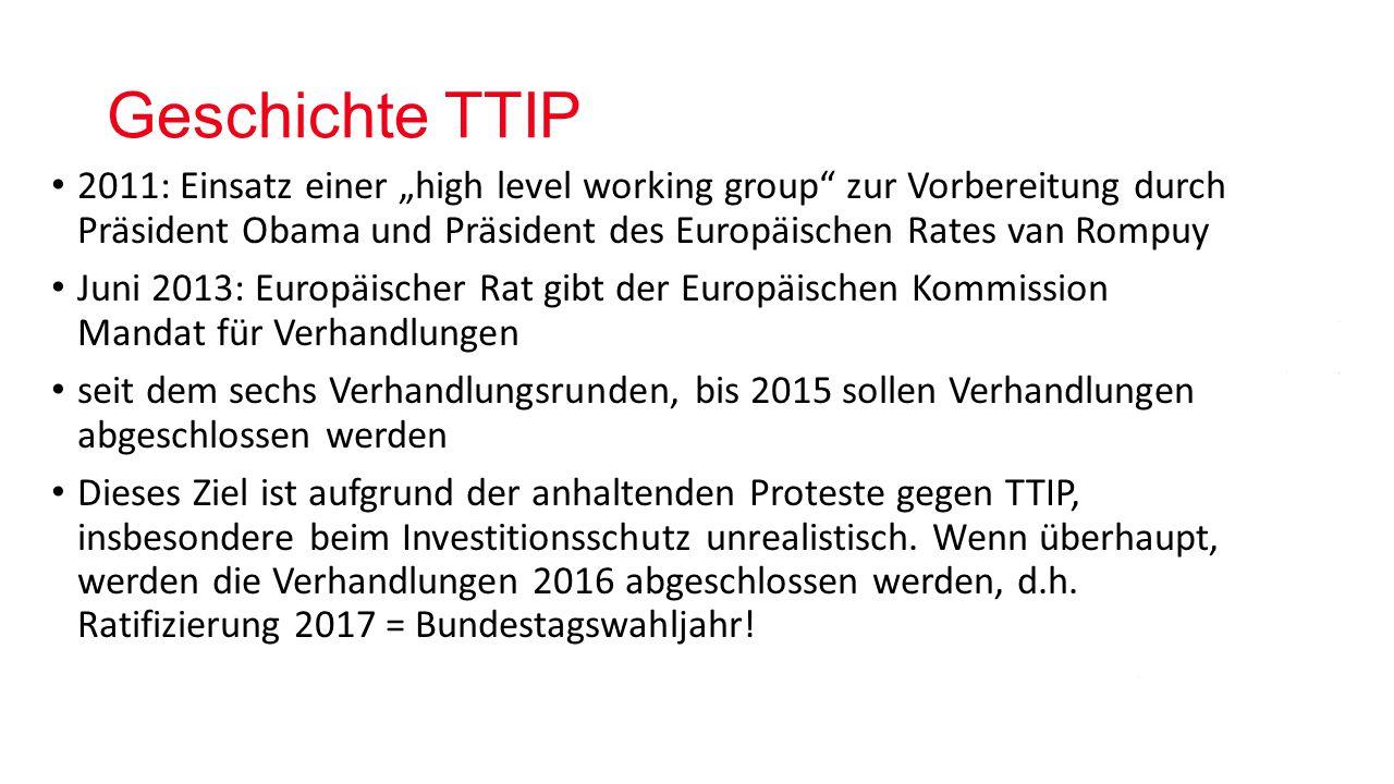 Geschichte TTIP
