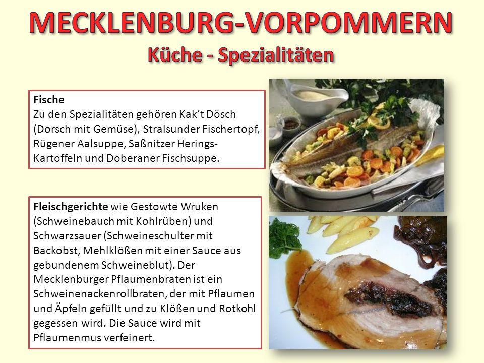 MECKLENBURG-VORPOMMERN Küche - Spezialitäten