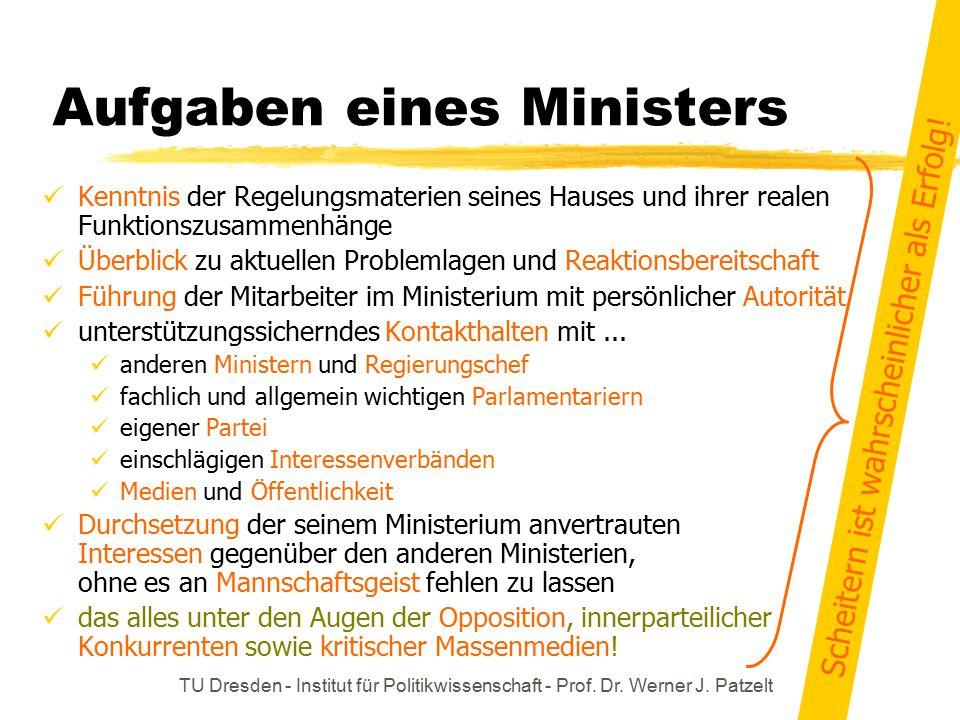 Aufgaben eines Ministers