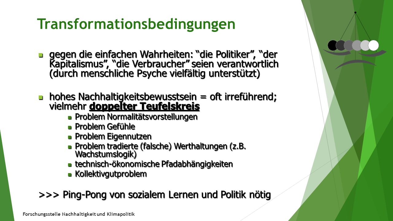 Transformationsbedingungen