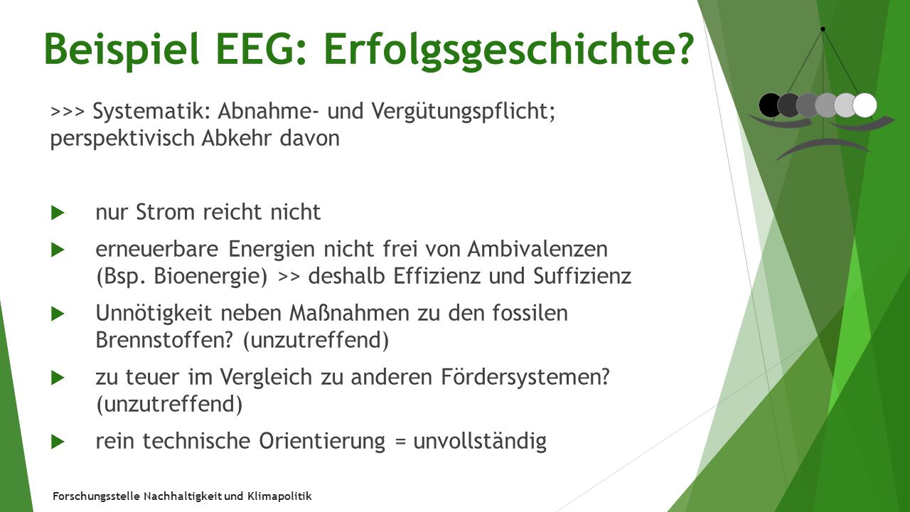 Beispiel EEG: Erfolgsgeschichte
