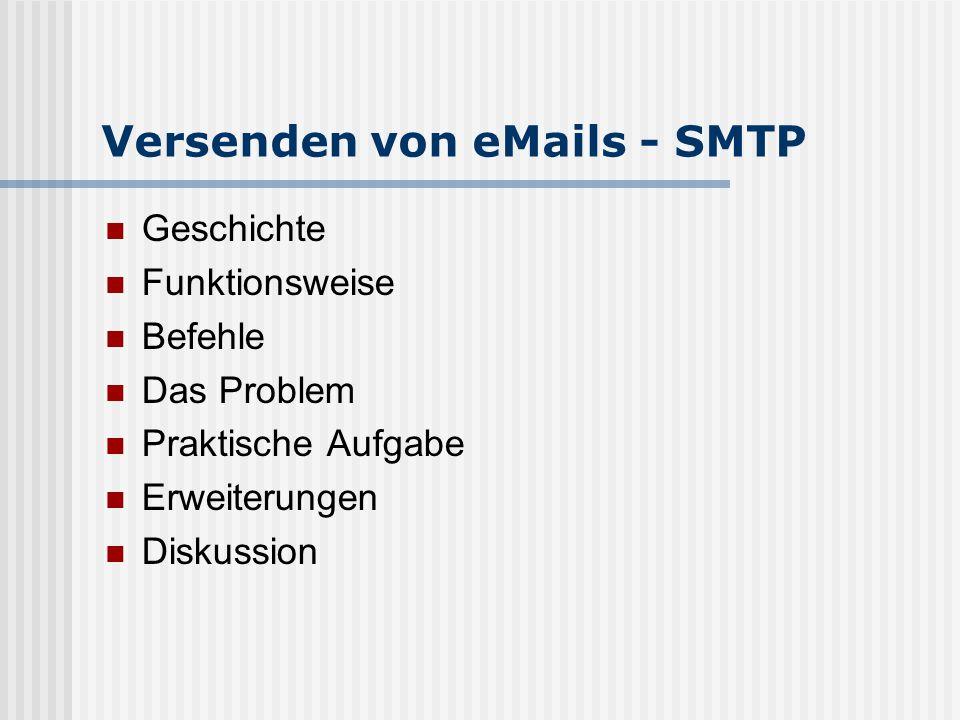 Versenden von eMails - SMTP