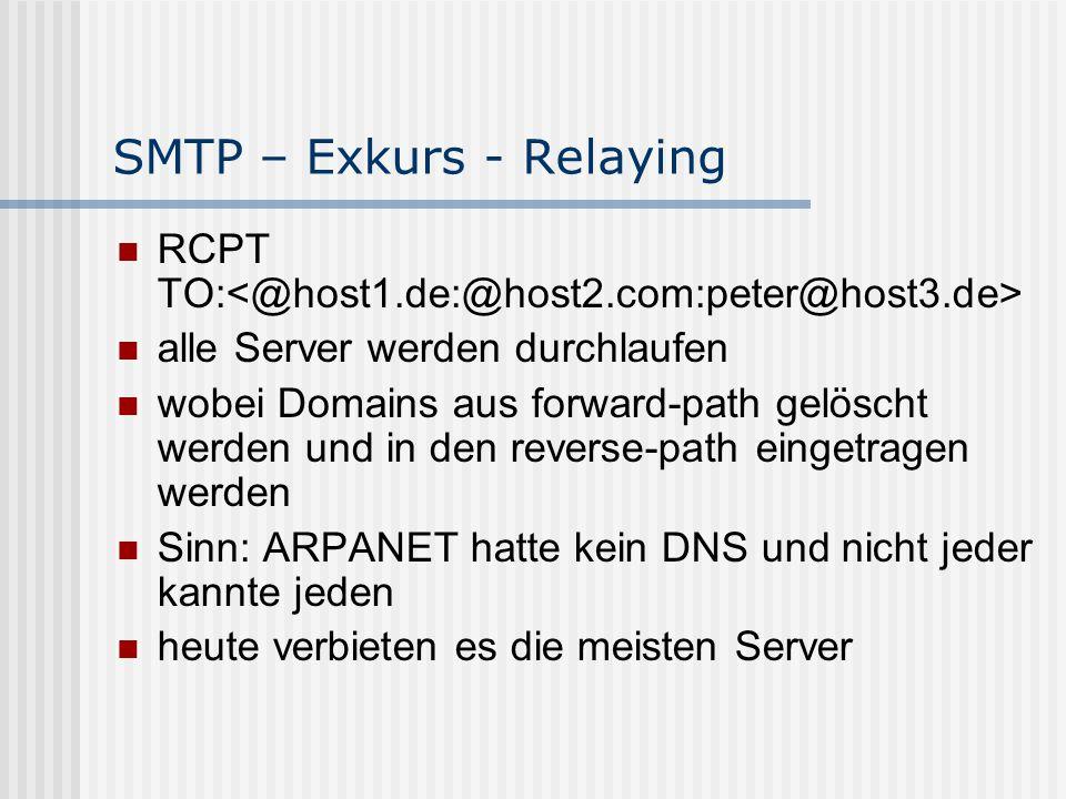 SMTP – Exkurs - Relaying
