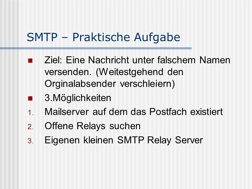 SMTP – Praktische Aufgabe