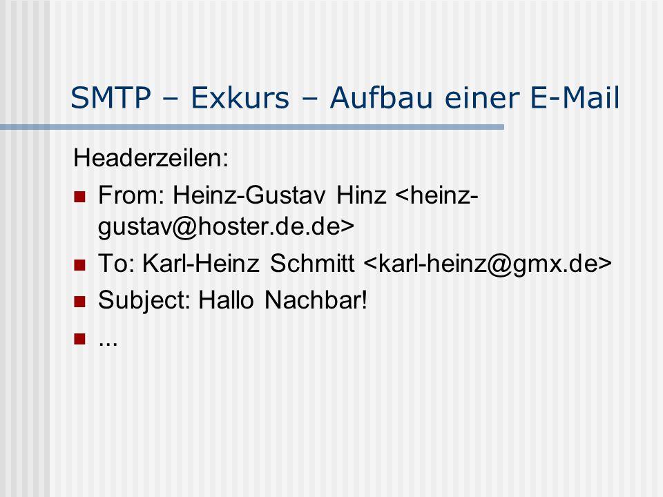 SMTP – Exkurs – Aufbau einer E-Mail