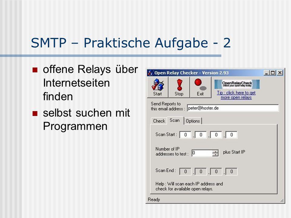 SMTP – Praktische Aufgabe - 2