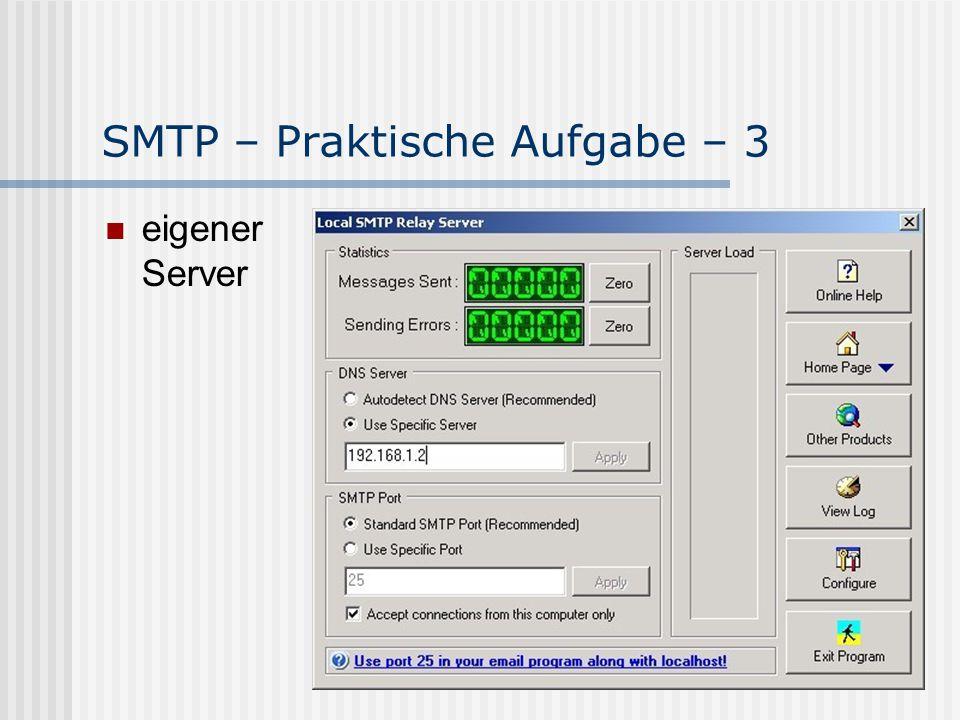 SMTP – Praktische Aufgabe – 3