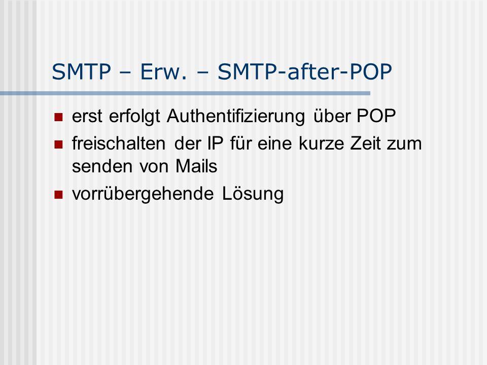 SMTP – Erw. – SMTP-after-POP