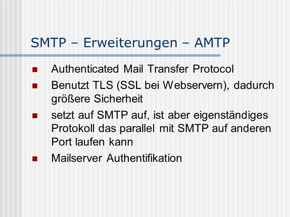 SMTP – Erweiterungen – AMTP