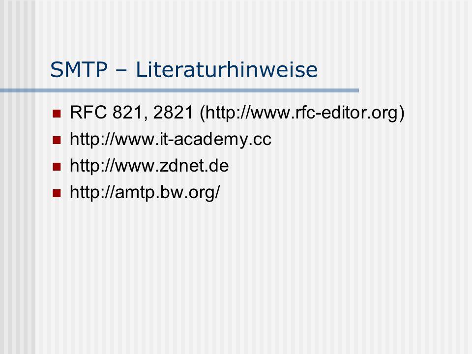 SMTP – Literaturhinweise