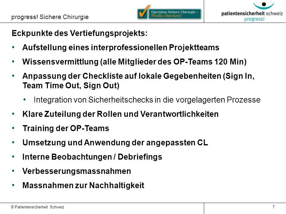 Eckpunkte des Vertiefungsprojekts: