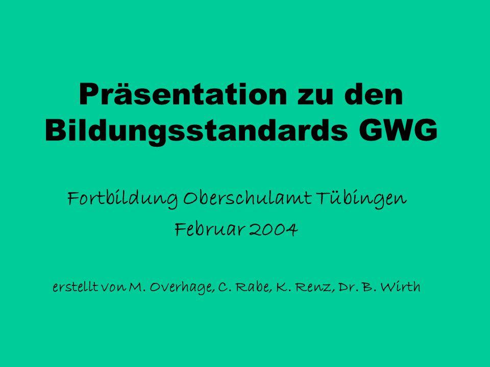 Präsentation zu den Bildungsstandards GWG