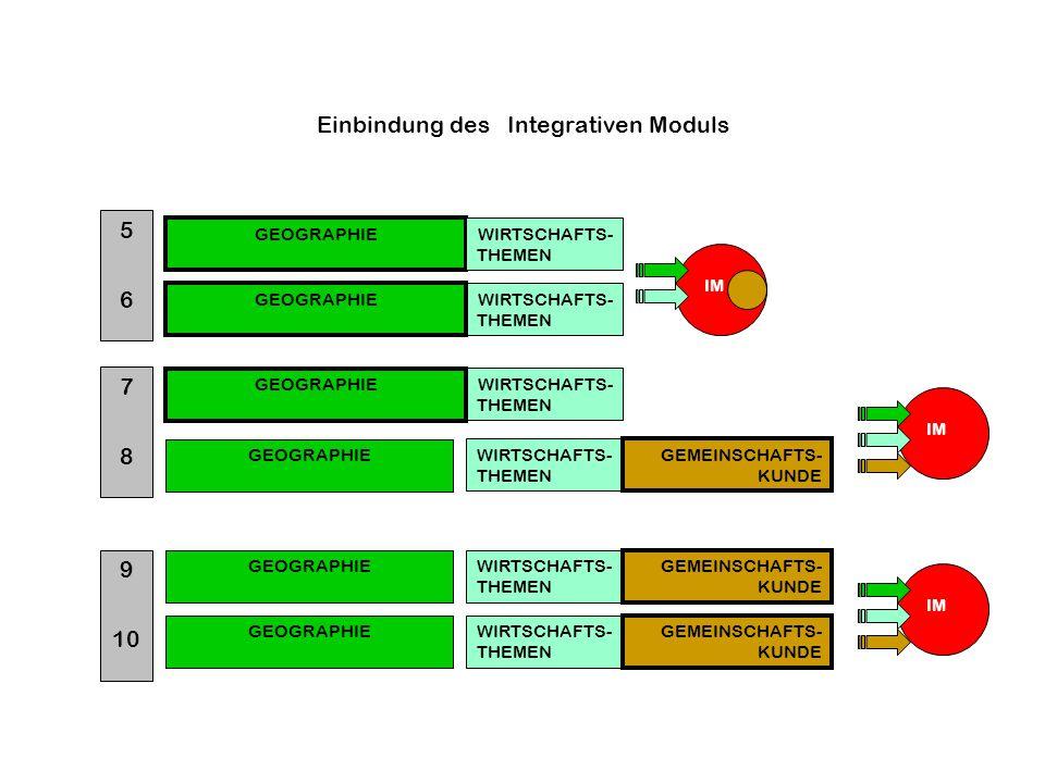 Einbindung des Integrativen Moduls