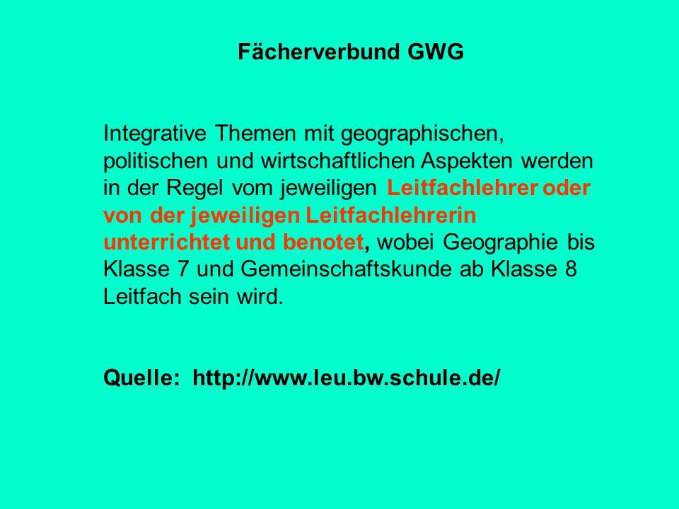 Fächerverbund GWG