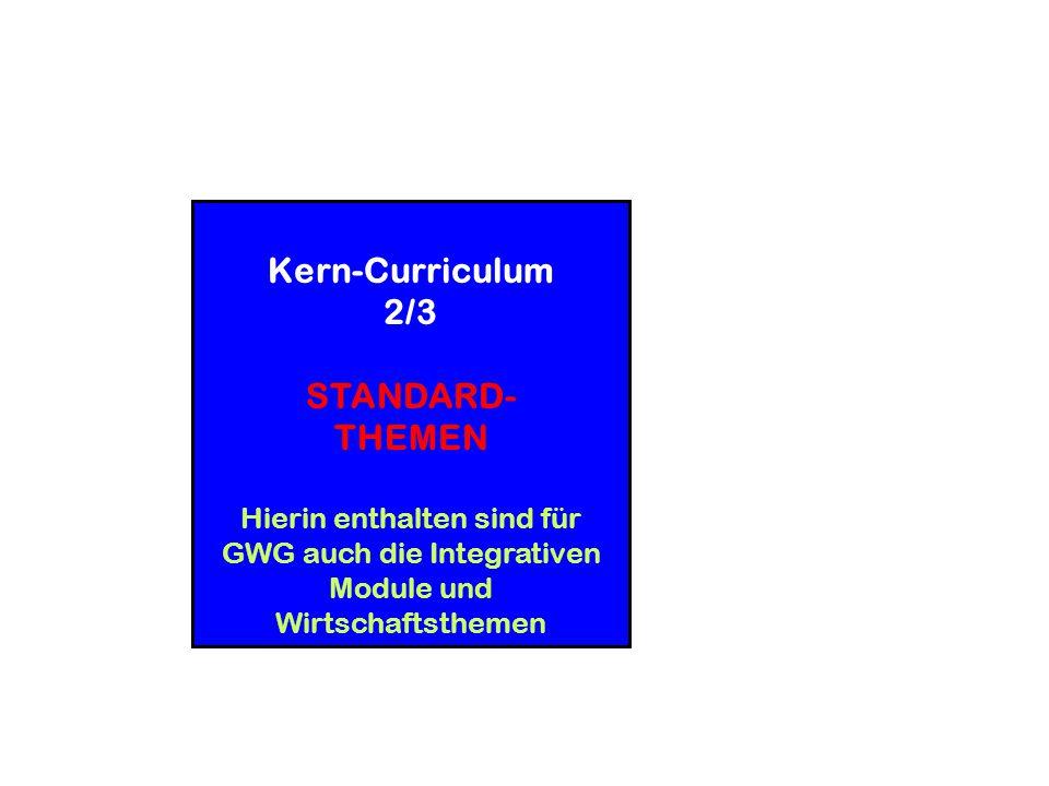 Kerncurriculum allein