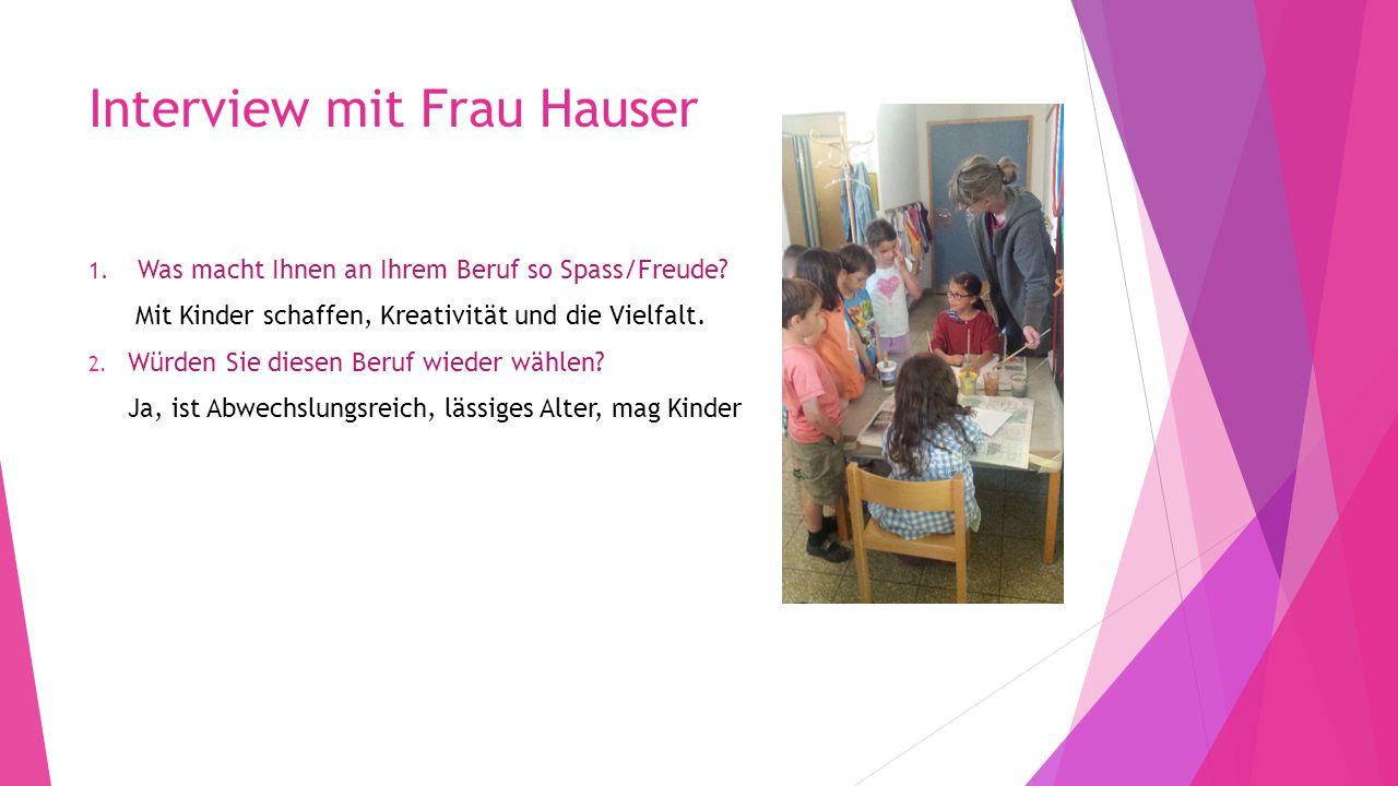 Interview mit Frau Hauser
