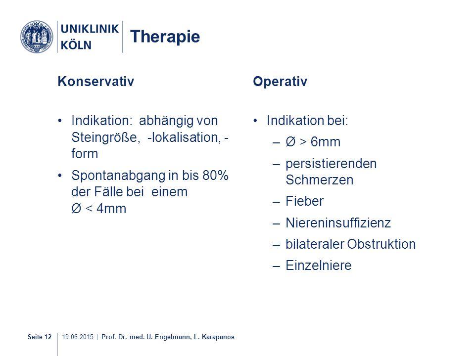 Therapie Konservativ Operativ