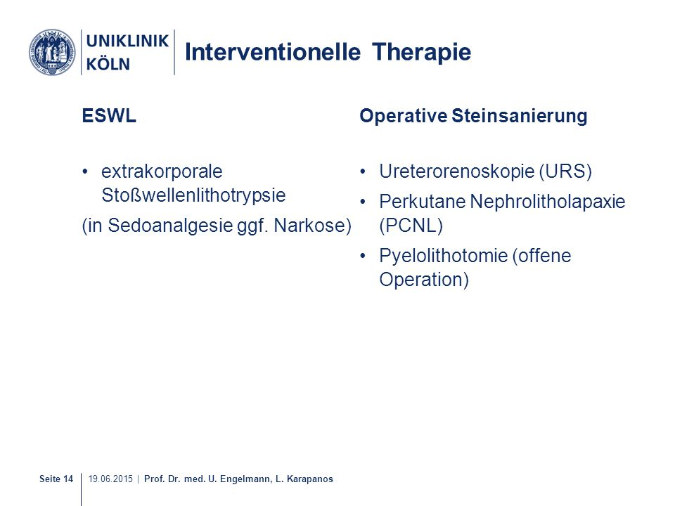 Interventionelle Therapie