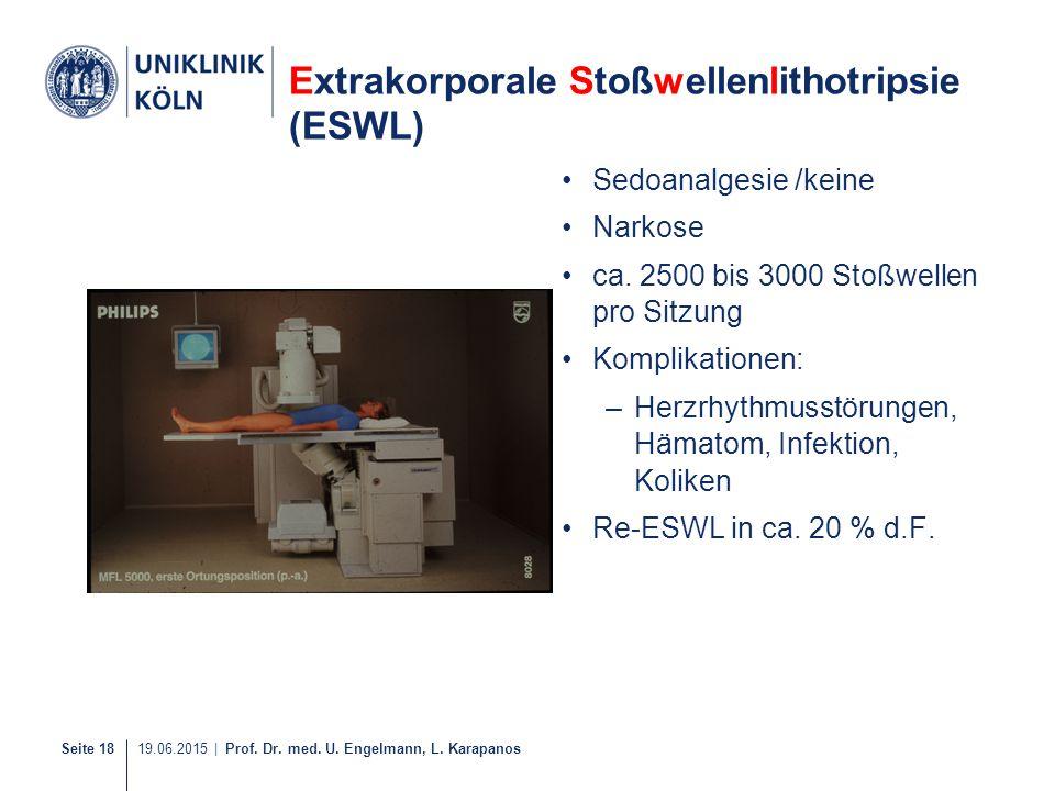 Extrakorporale Stoßwellenlithotripsie (ESWL)