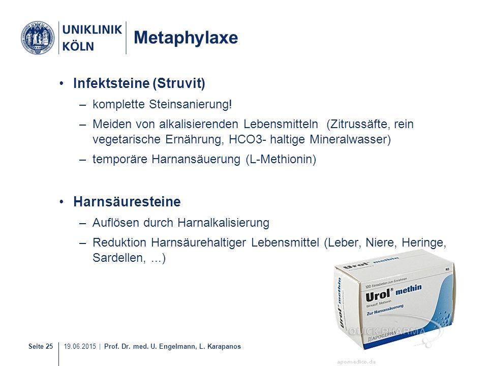 Metaphylaxe Infektsteine (Struvit) Harnsäuresteine