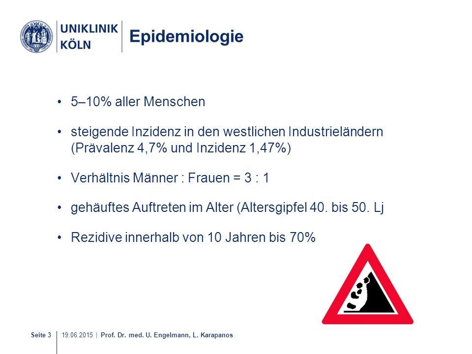 Epidemiologie 5–10% aller Menschen