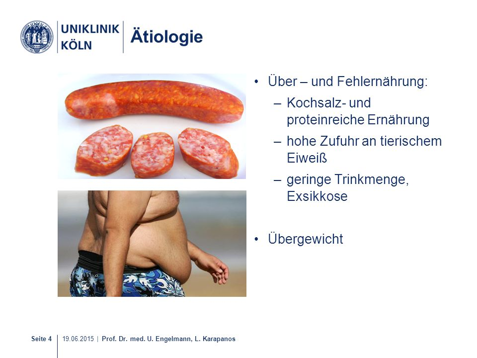 Ätiologie Über – und Fehlernährung: