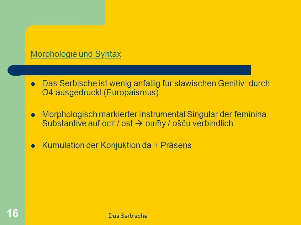Morphologie und Syntax