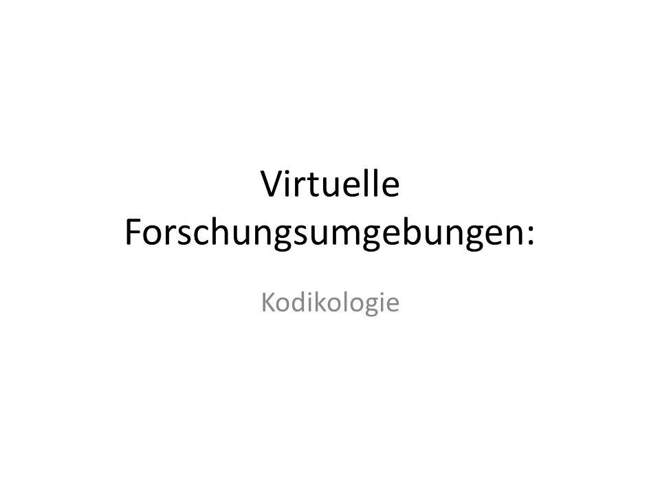 Virtuelle Forschungsumgebungen: