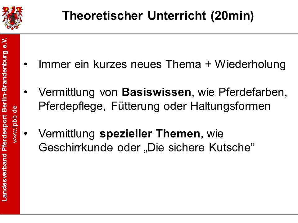 Theoretischer Unterricht (20min)