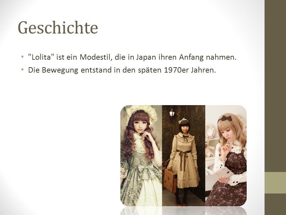 Geschichte Lolita ist ein Modestil, die in Japan ihren Anfang nahmen.
