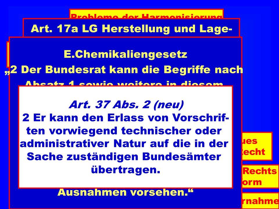   Art. 17a LG Herstellung und Lage-
