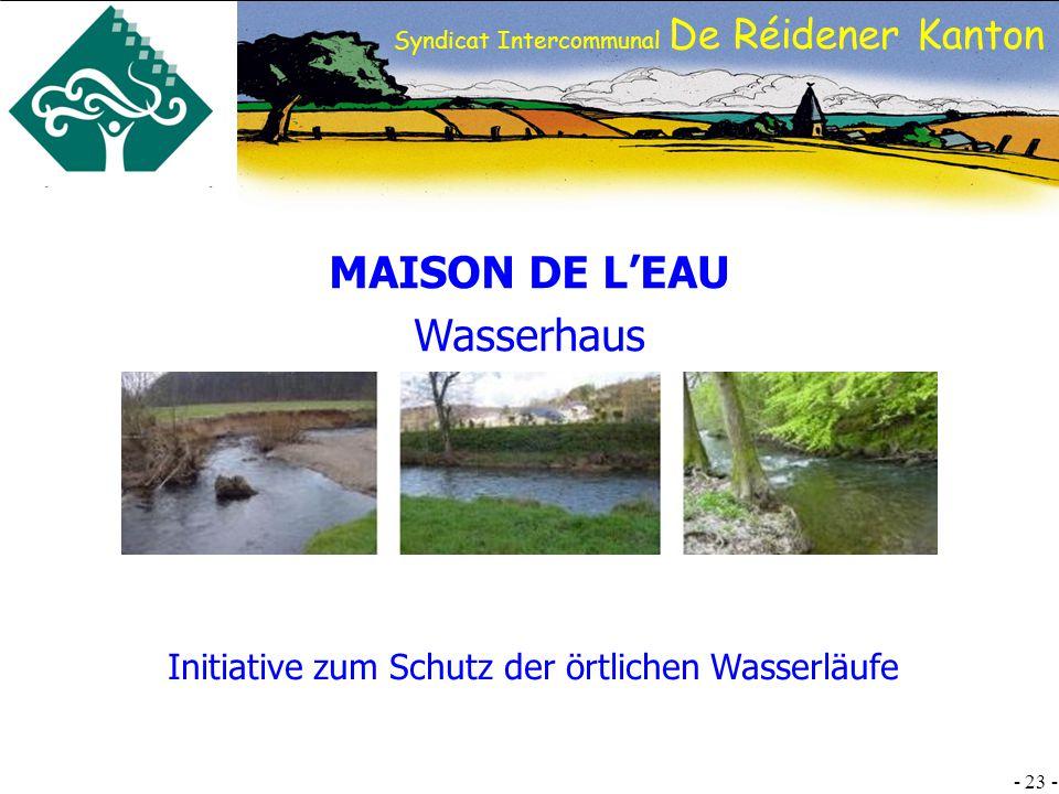 Initiative zum Schutz der örtlichen Wasserläufe