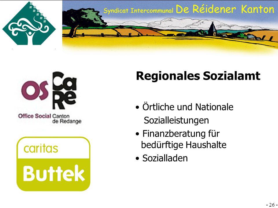 Regionales Sozialamt Örtliche und Nationale Sozialleistungen