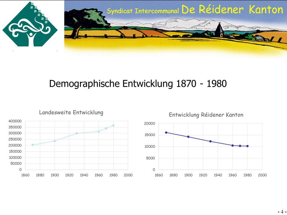 Demographische Entwicklung 1870 - 1980