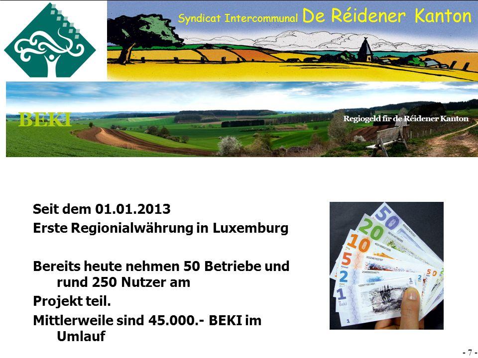 Erste Regionialwährung in Luxemburg