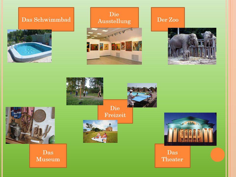 Das Schwimmbad Die Ausstellung Der Zoo Die Freizeit Das Museum Das Theater