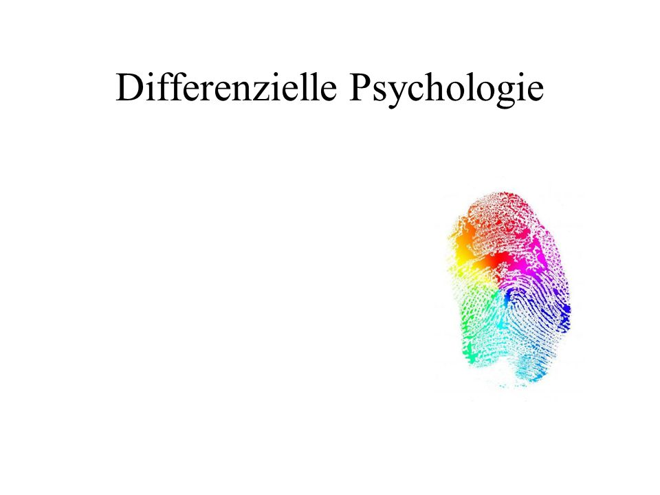 Differenzielle Psychologie