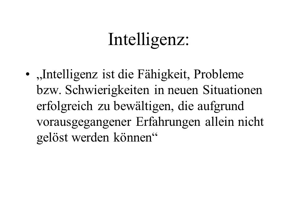 Intelligenz: