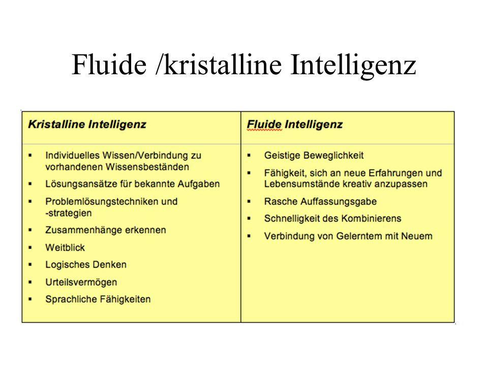 Fluide /kristalline Intelligenz