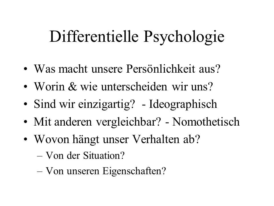 Differentielle Psychologie
