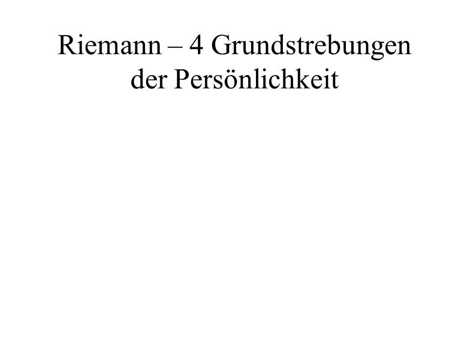 Riemann – 4 Grundstrebungen der Persönlichkeit