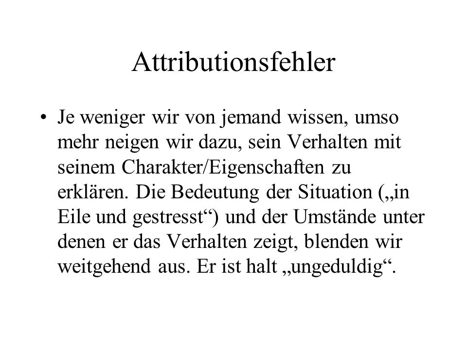 Attributionsfehler