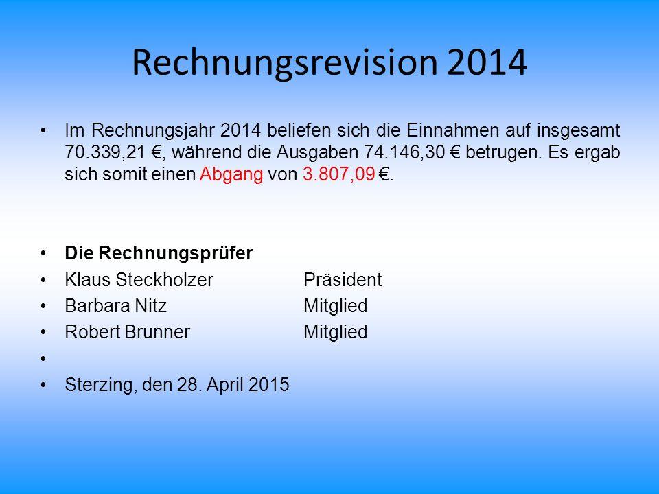 Rechnungsrevision 2014