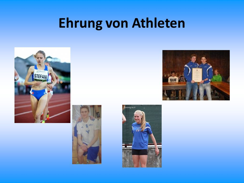 Ehrung von Athleten