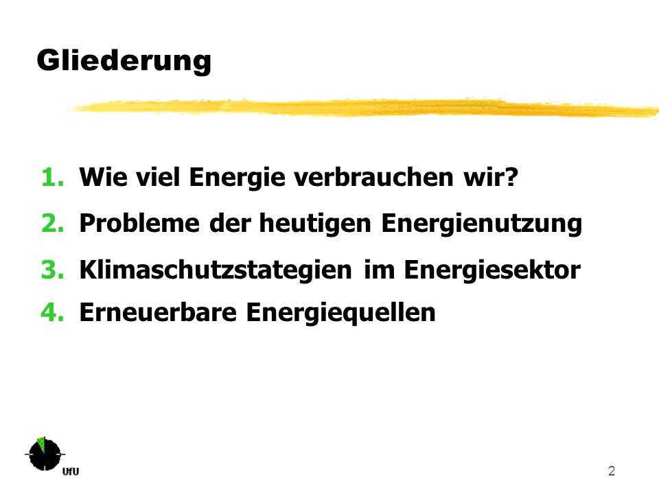 Gliederung Wie viel Energie verbrauchen wir