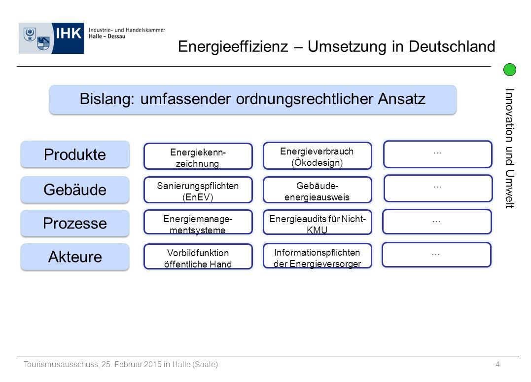 Energieeffizienz – Umsetzung in Deutschland