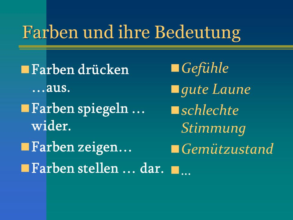 farben und ihre bedeutung ppt video online herunterladen. Black Bedroom Furniture Sets. Home Design Ideas