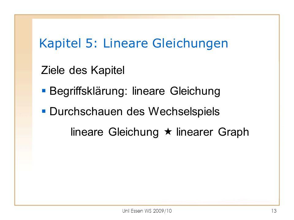 Kapitel 5: Lineare Gleichungen