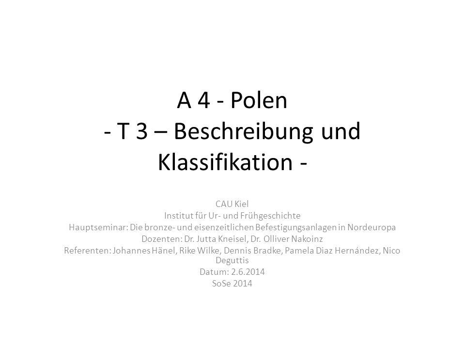 A 4 - Polen - T 3 – Beschreibung und Klassifikation -