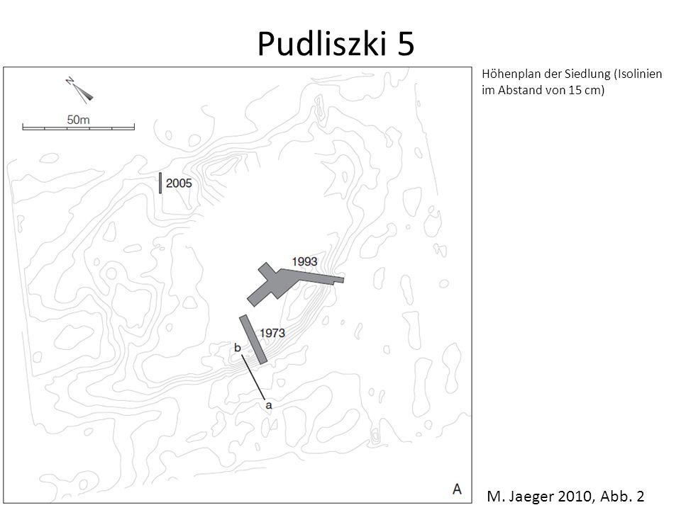 Pudliszki 5 Höhenplan der Siedlung (Isolinien im Abstand von 15 cm) M. Jaeger 2010, Abb. 2
